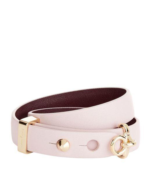 Ferragamo - Purple Ganchini Double Wrap Bracelet - Lyst