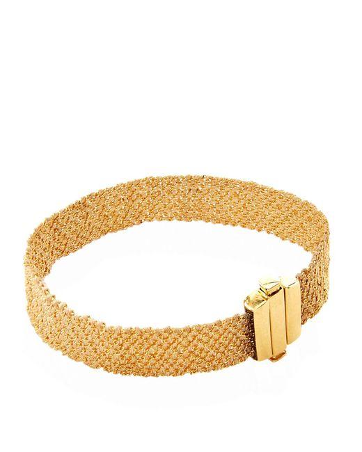 Carolina Bucci | Metallic Gold And Silk Woven Bracelet | Lyst