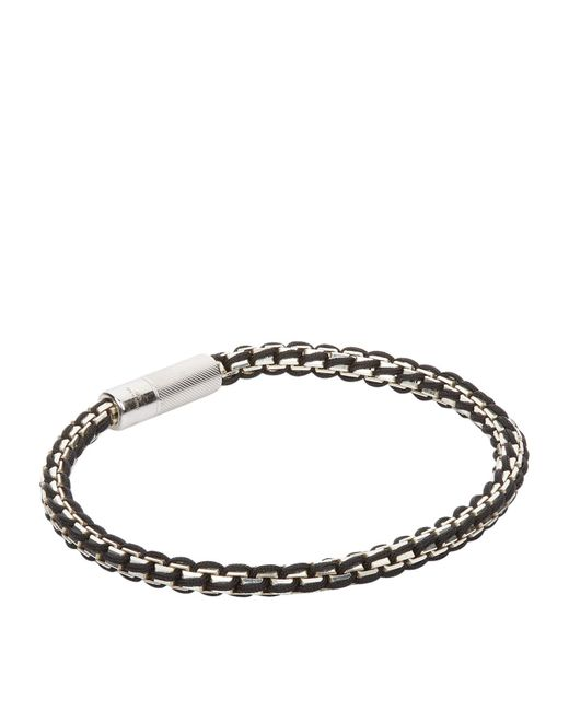 Tateossian | Metallic Interwoven Chain Thread Bracelet for Men | Lyst