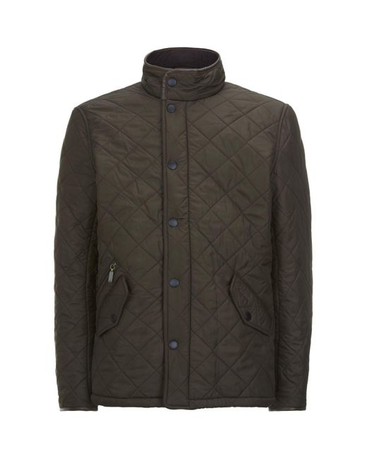 Barbour Green Powell Quilted Jacket for men