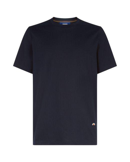 Paul Smith | Blue Rainbow Hem T-shirt for Men | Lyst