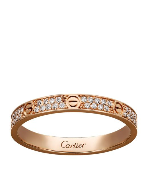 Cartier - Metallic Small Pink Gold Diamond Love Ring - Lyst