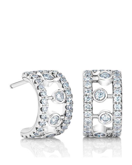 De Beers - Metallic White Gold And Diamond Dewdrop Hoop Earrings - Lyst