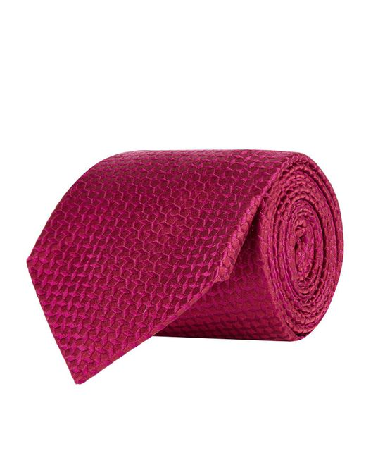 Turnbull & Asser - Red Floating Squares Silk Tie for Men - Lyst