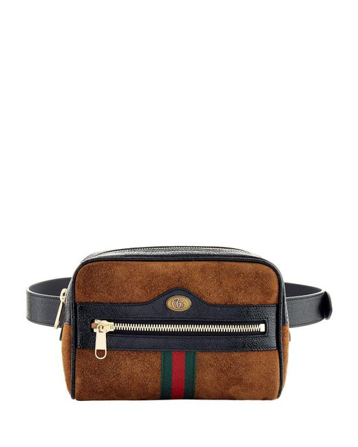 Gucci - Brown Ophidia Suede Belt Bag - Lyst