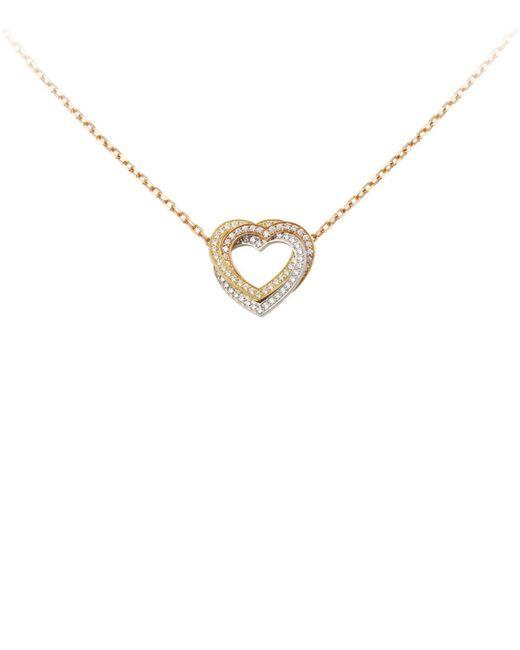 Cartier - Metallic Trinity De Diamond Heart Necklace - Lyst
