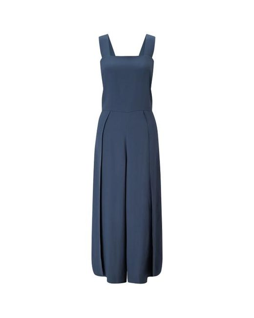 eda4fd390c2 Jigsaw Crepe Tailored Jumpsuit in Blue - Lyst