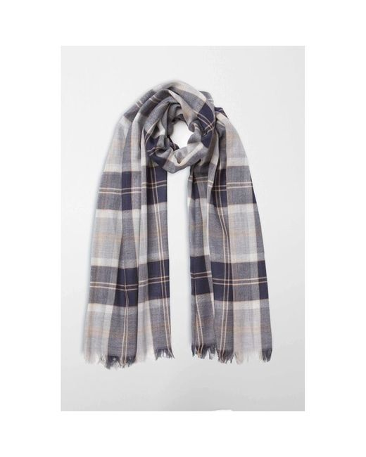 Johnstons - Multicolor Silver Bannockbane Tartan Merino Scarf for Men - Lyst