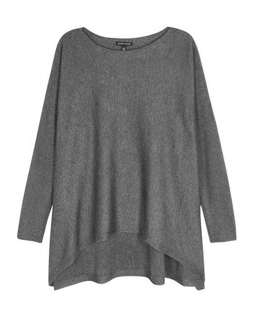 Eileen Fisher   Gray Grey Knitted Jumper   Lyst