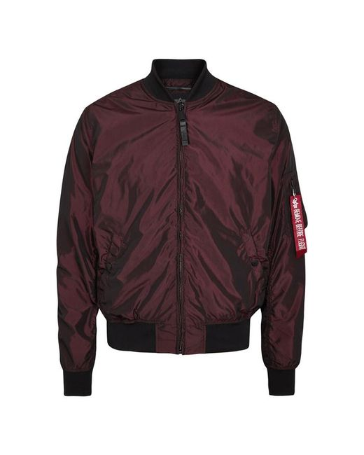 Alpha Industries - Purple Ma-1 Metallic Burgundy Shell Bomber Jacket - Size M for Men - Lyst