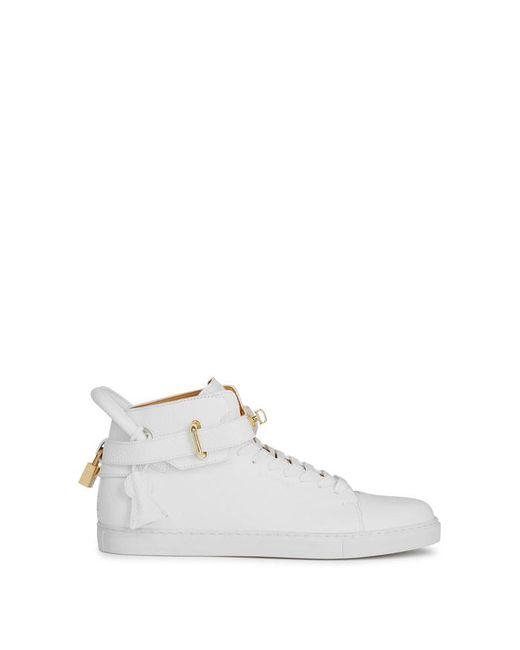 Buscemi | 100mm White Leather Hi-top Trainers for Men | Lyst