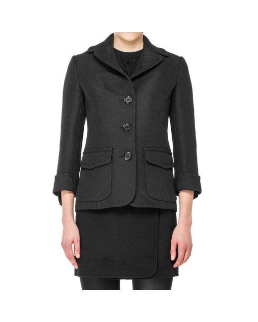 Max Studio - Black Jacquard Fitted Jacket - Lyst