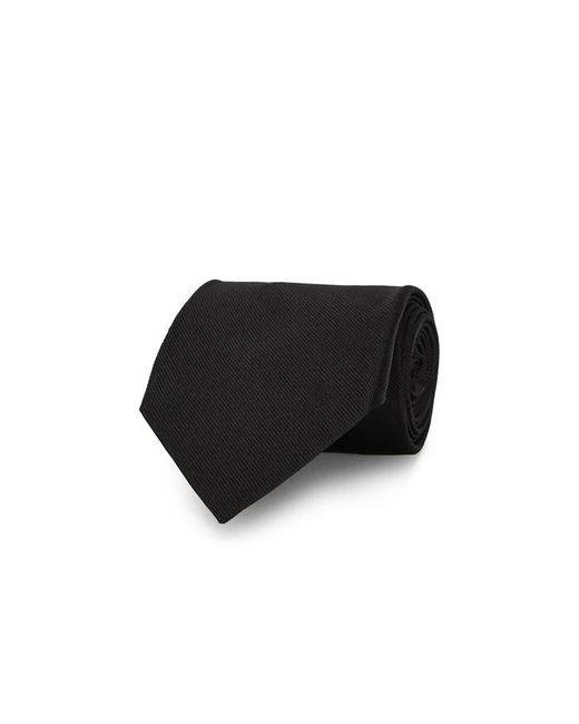 Alexander McQueen - Black Floral-embroidered Silk Tie for Men - Lyst