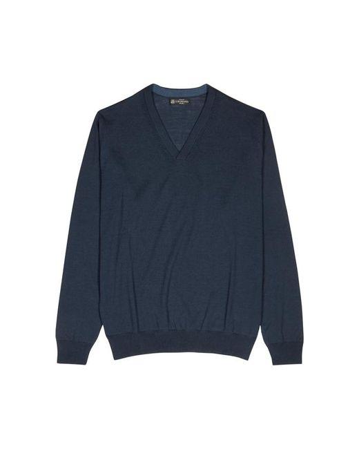 Corneliani - Blue Dark Teal Wool Jumper for Men - Lyst