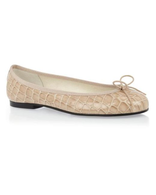 French Sole | Natural Henrietta Croc Leather | Lyst