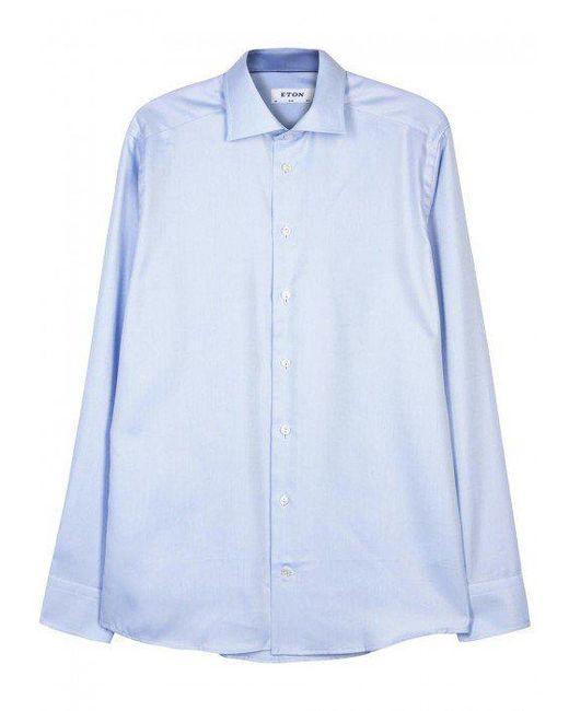 Eton of Sweden | Light Blue Slim Cotton Shirt - Size 15.5 for Men | Lyst