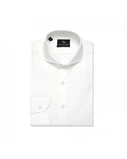 Chester Barrie | White Plain Tailored Fit Long Sleeve Cutaway Collar For for Men | Lyst