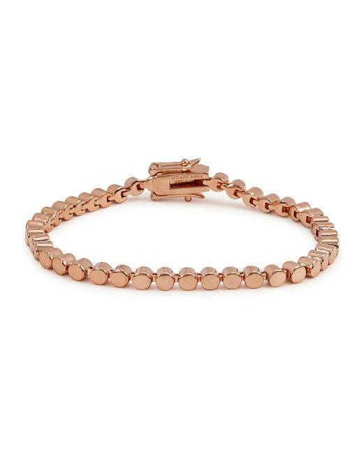Eddie Borgo | Metallic Mini Cylinder Rose Gold-plated Bracelet | Lyst