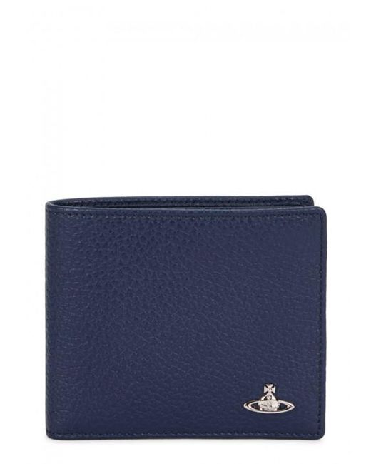 Vivienne Westwood | Blue Navy Grained Leather Wallet for Men | Lyst