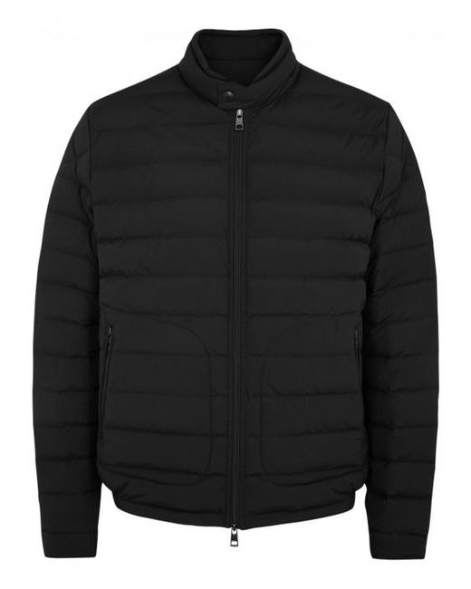 Moncler   Acorus Black Quilted Shell Jacket - Size 4 for Men   Lyst