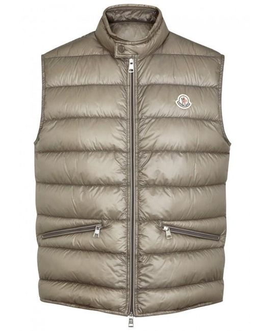 Moncler   Gray Gui Quilted Shell Gilet - Size 2 for Men   Lyst