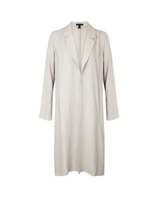 Eileen Fisher - Off White Washed Silk Jacket - Lyst