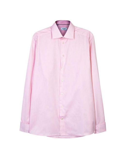 Eton of Sweden - Pink Contemporary Herringbone Cotton Shirt - Size 16 for Men - Lyst