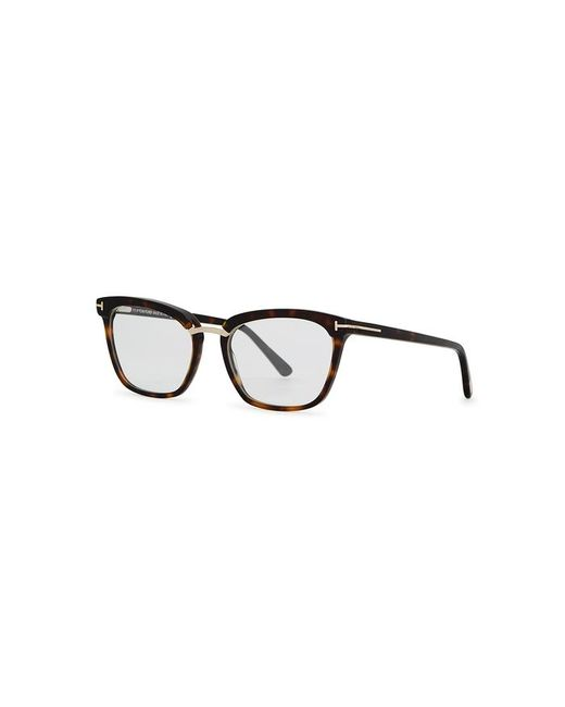 fcfd8a8da9 Tom Ford Tortoiseshell Cat-eye Optical Glasses in Brown - Lyst