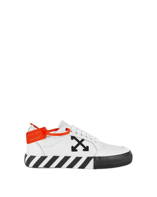 Off-White c/o Virgil Abloh Arrow Low Vulcanized Sneakers In White Canvas