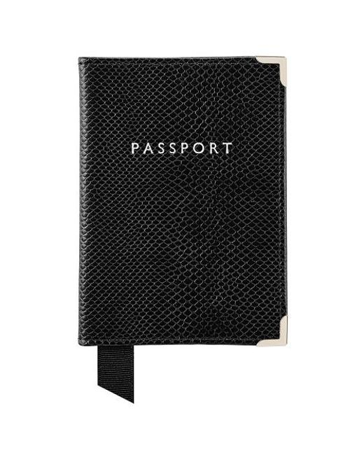 Aspinal | Black The Passport Cover | Lyst