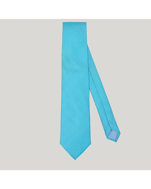 Harvie and Hudson - Blue Sky Plain Essential Woven Silk Tie for Men - Lyst