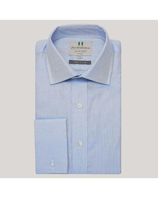 Harvie and Hudson - Blue Royal Oxford Poplin Slim Fit Shirt for Men - Lyst