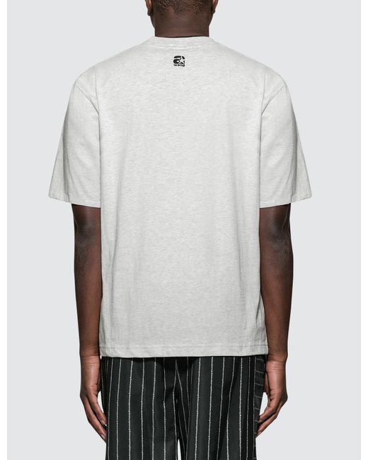 adeaee9d4 ... Alexander Wang - White Printed Double S/s T-shirt for Men - Lyst ...