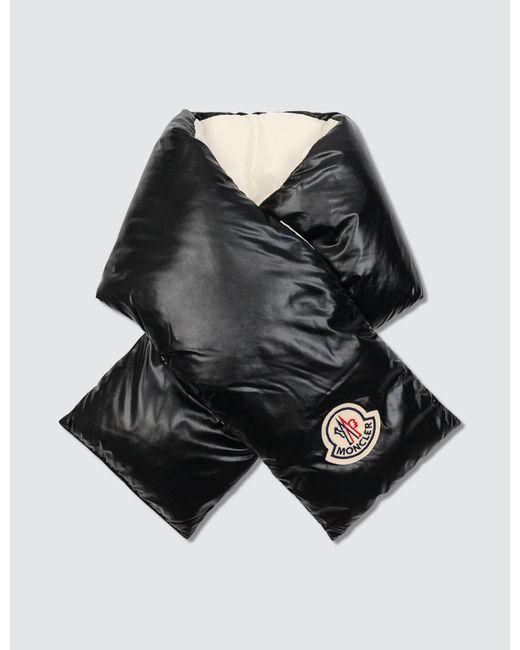 Moncler Black Nylon Down Scarf