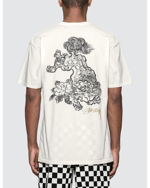 638b2866 Stussy - White Fu Dog T-shirt for Men - Lyst ...