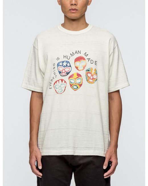 Human Made | White #1403 Masks S/s T-shirt for Men | Lyst