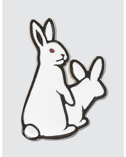 """#FR2 - White """"fxxking Rabbits"""" Pin - Lyst"""