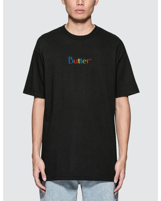 Butter Goods | Black Web Embroidery Classic Logo S/s T-shirt for Men | Lyst