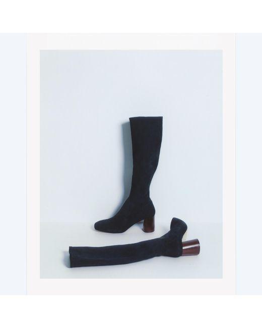 Helmut Lang | Black Tall Stretch Boot | Lyst