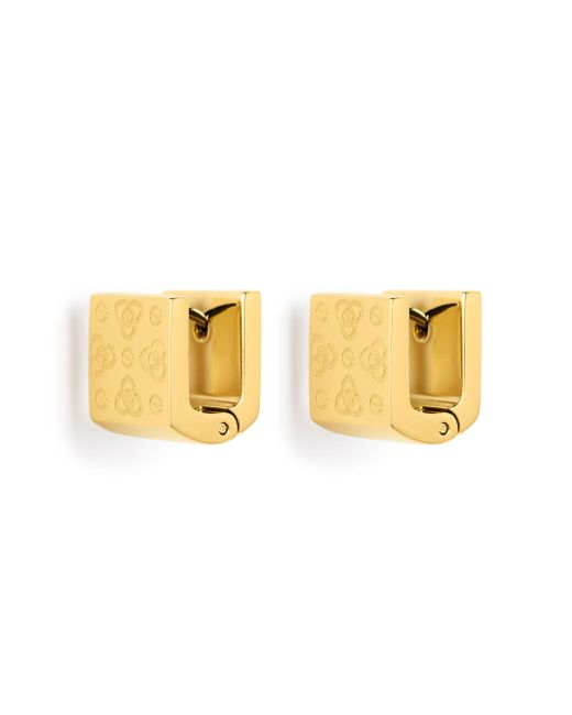 Henri Bendel | Metallic Petal Monogram Huggy Hoop Earring | Lyst
