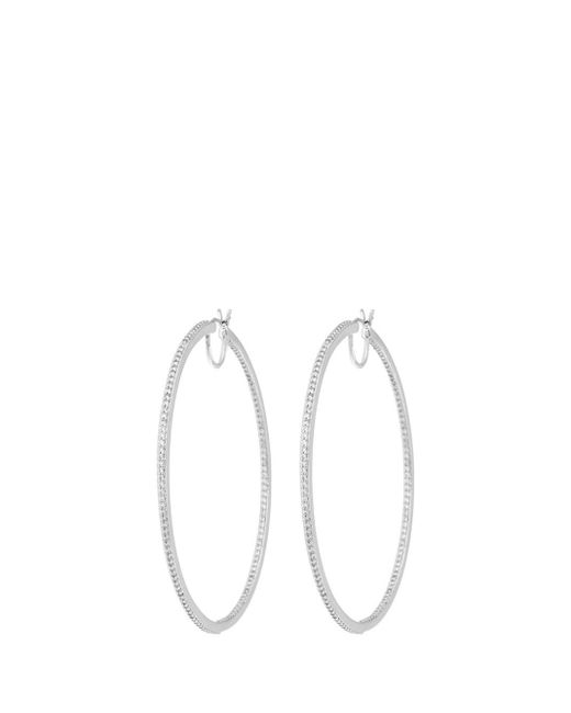 Henri Bendel - Metallic Luxe Uptown Pave Hoop Earring - Lyst
