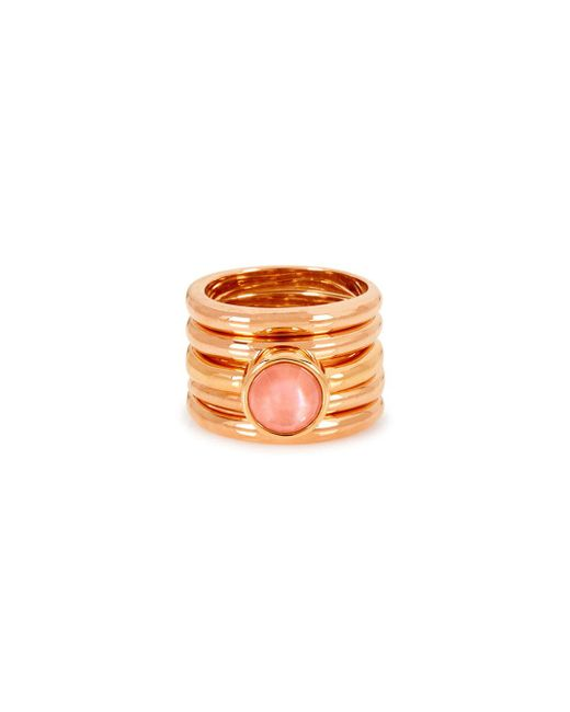 Henri Bendel - Pink Beachcomber Semi Ring Set - Lyst