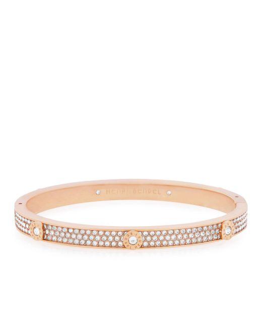 Henri Bendel | Pink Miss Bendel Pave Bangle Bracelet | Lyst