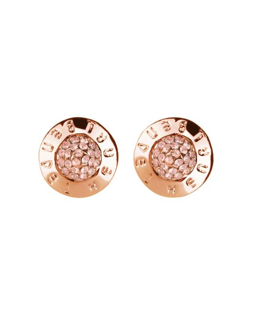 Henri Bendel | Pink The Plaza Pave Stud Earrings | Lyst