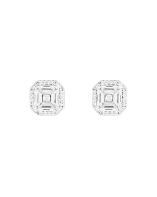 Henri Bendel - Metallic Luxe Asscher Cut Pave Studs - Lyst