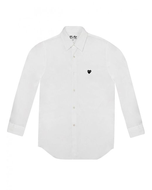 Comme des Garçons | Play Mens Small Black Heart Shirt White for Men | Lyst