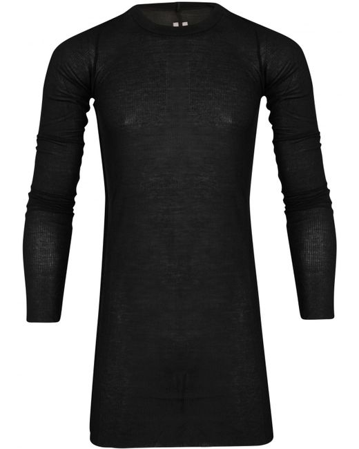 Rick Owens | Black Ribbed T-shirt for Men | Lyst