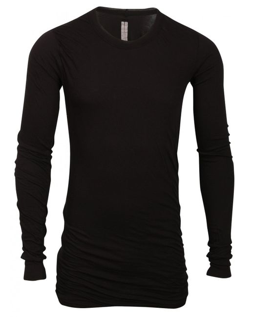 Rick Owens   Black Long Length T-shirt for Men   Lyst