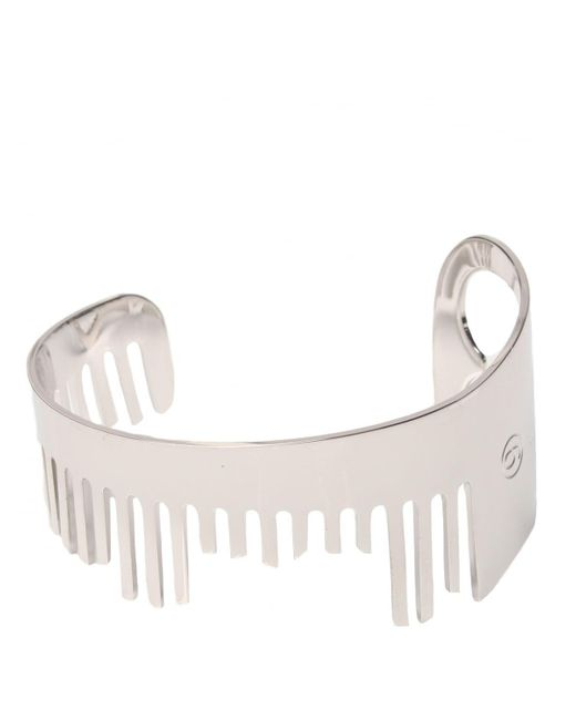 MM6 by Maison Martin Margiela | Metallic Comb Spike Bracelet Silver | Lyst