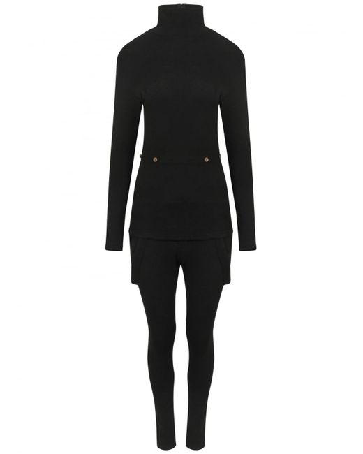 Yohji Yamamoto | High Neck Body Suit Black | Lyst